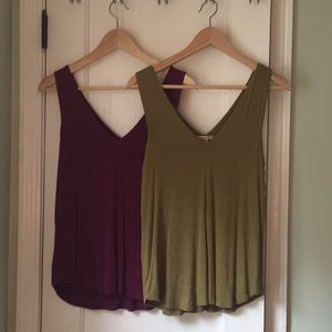 Anthropologie extra soft tanks XS